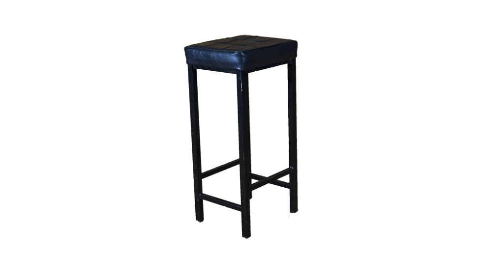 black leather top stool