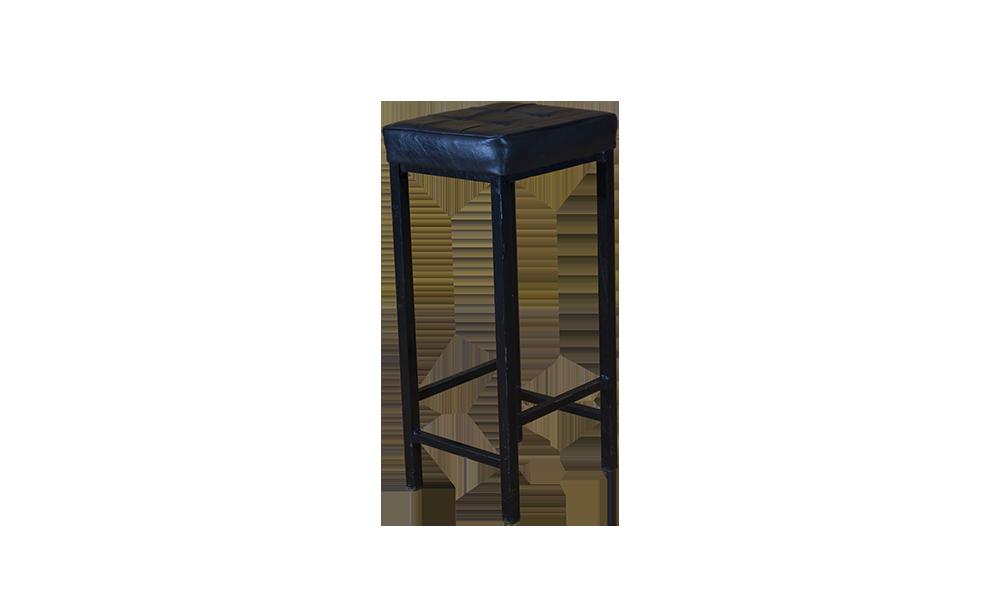 black leather top stool