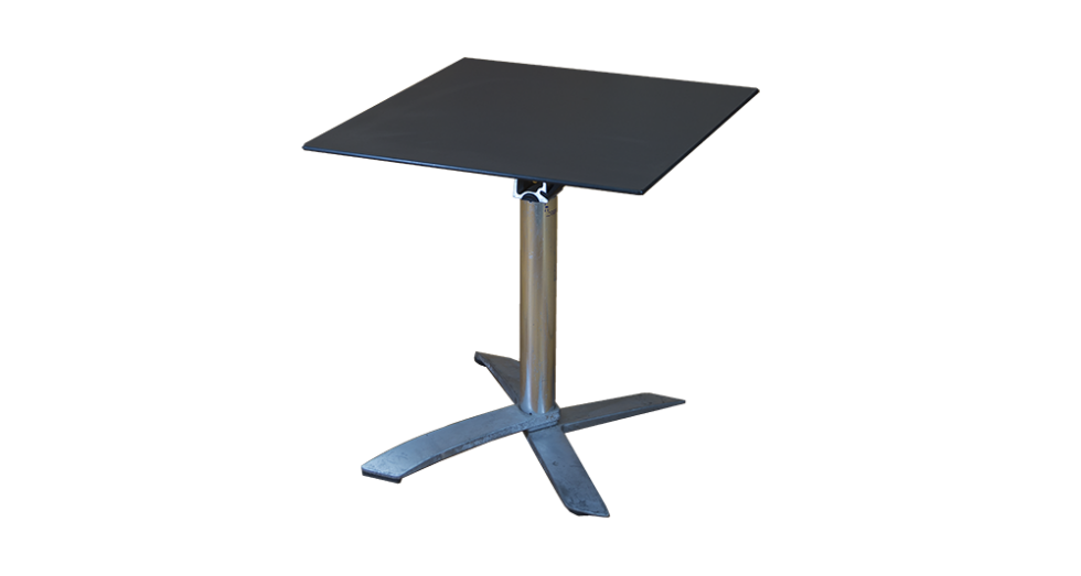 grey top folding table