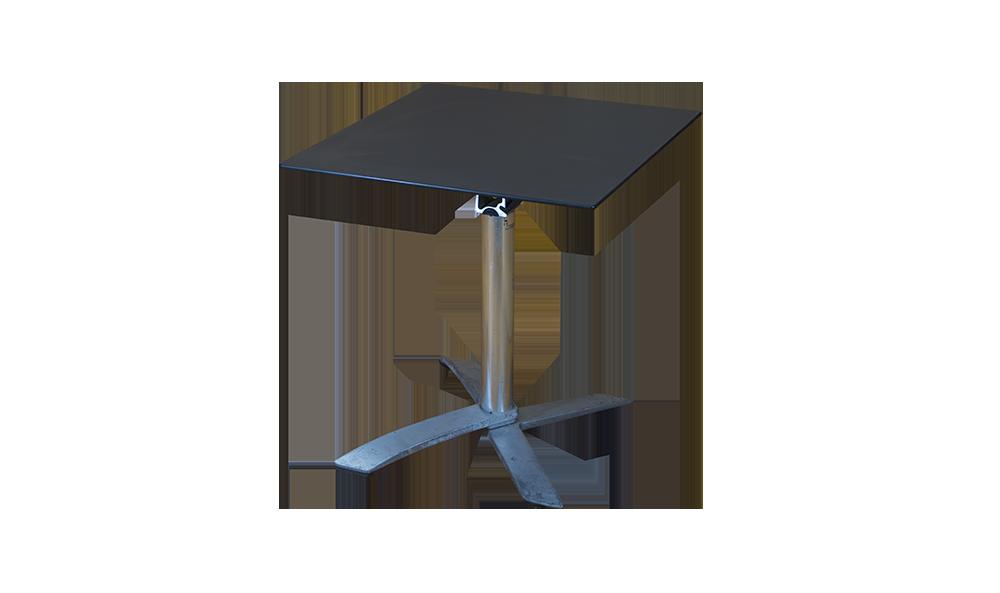 grey top folding table