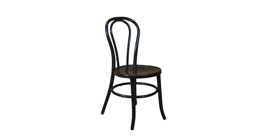 polished wood chair