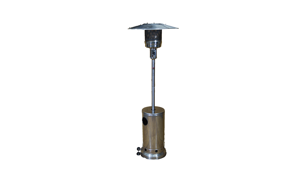 stainless gas heater tall