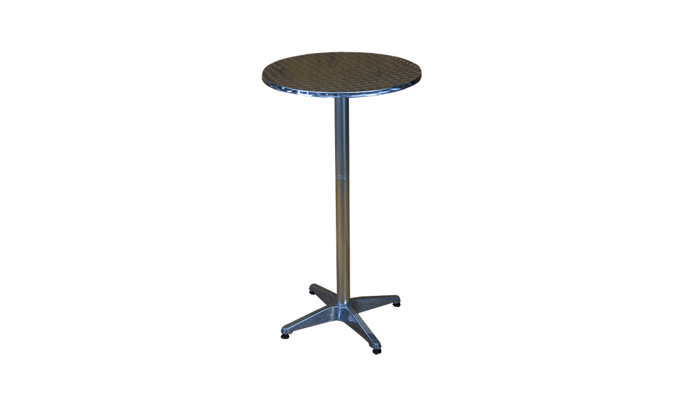 tall silver table silver support