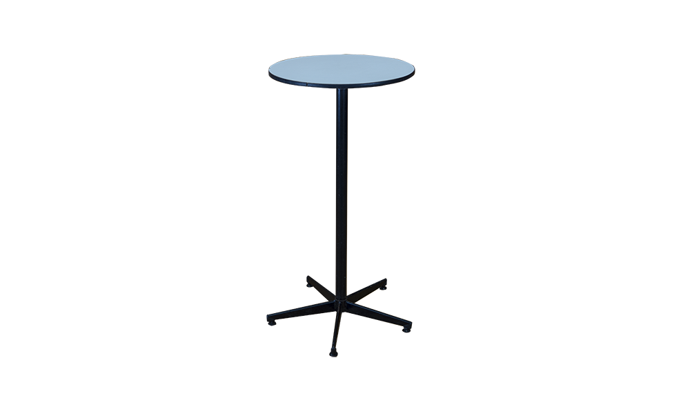 tall white top table black steel support