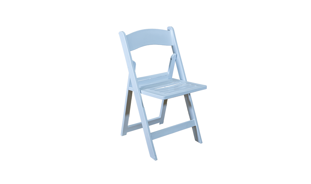 white folding chair without pad