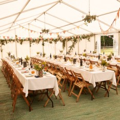 outdoor marquee setup