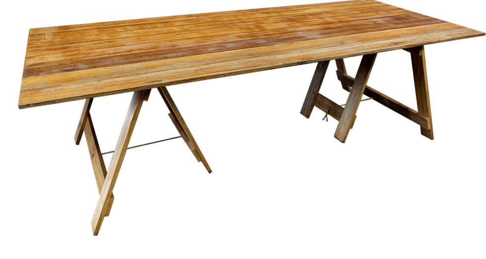 Vintage-Trestle-Table