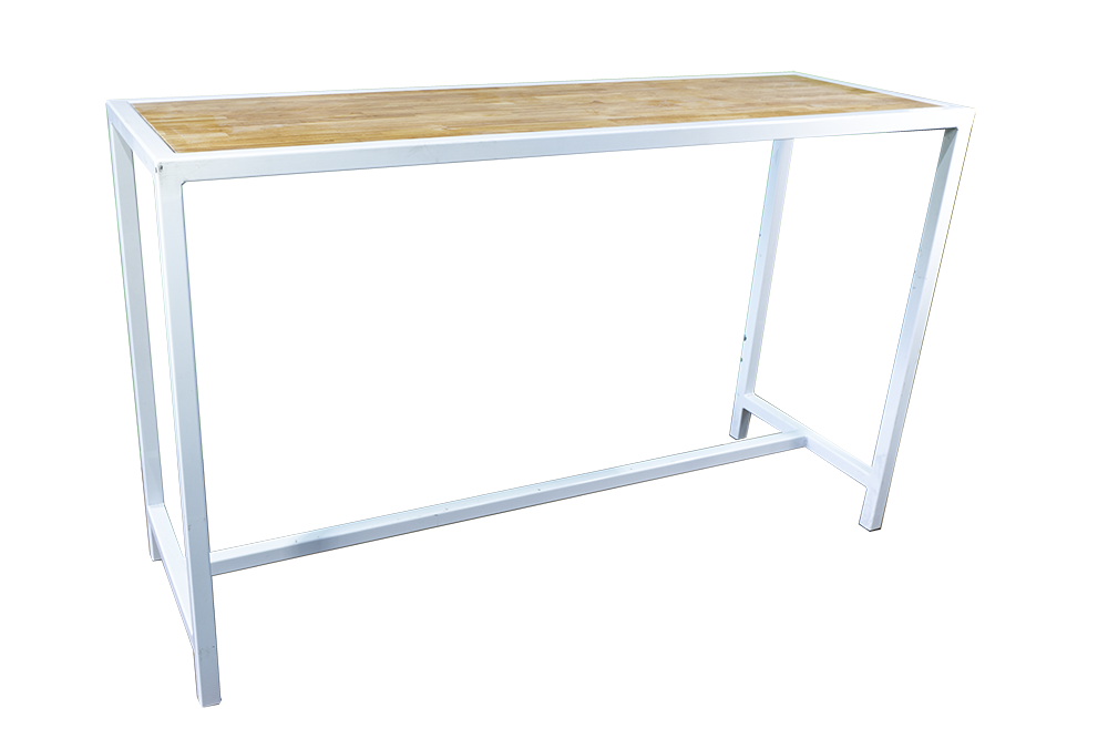 White-Frame-Bar-Bench