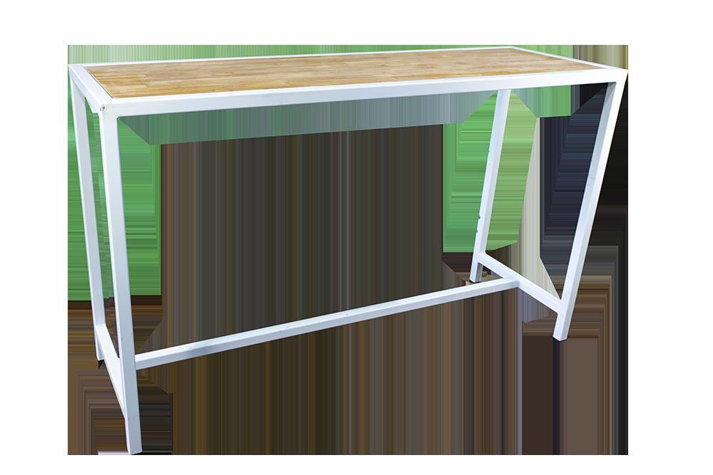 White-Frame-Bar-Bench