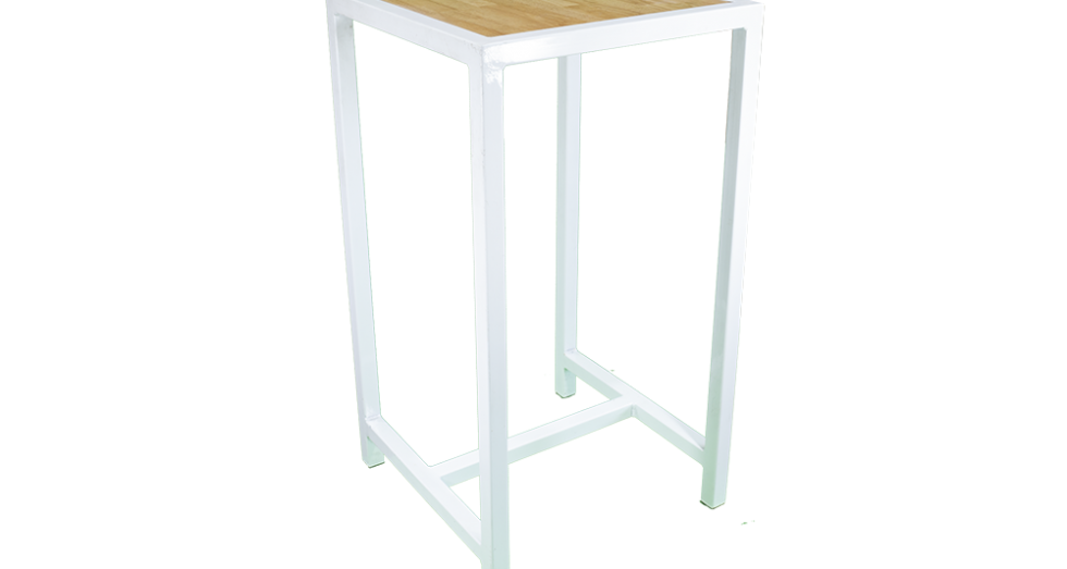 White-Frame-Bar-Table