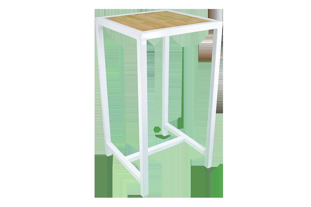 White-Frame-Bar-Table