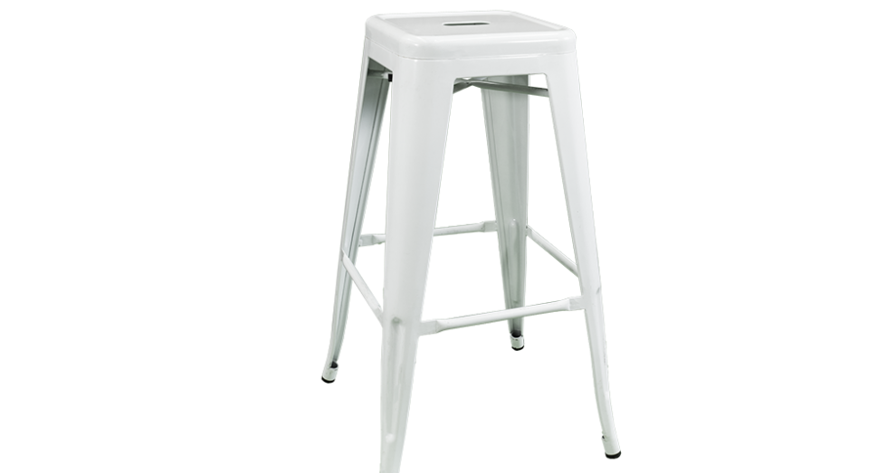 White Tolix Bar Stool