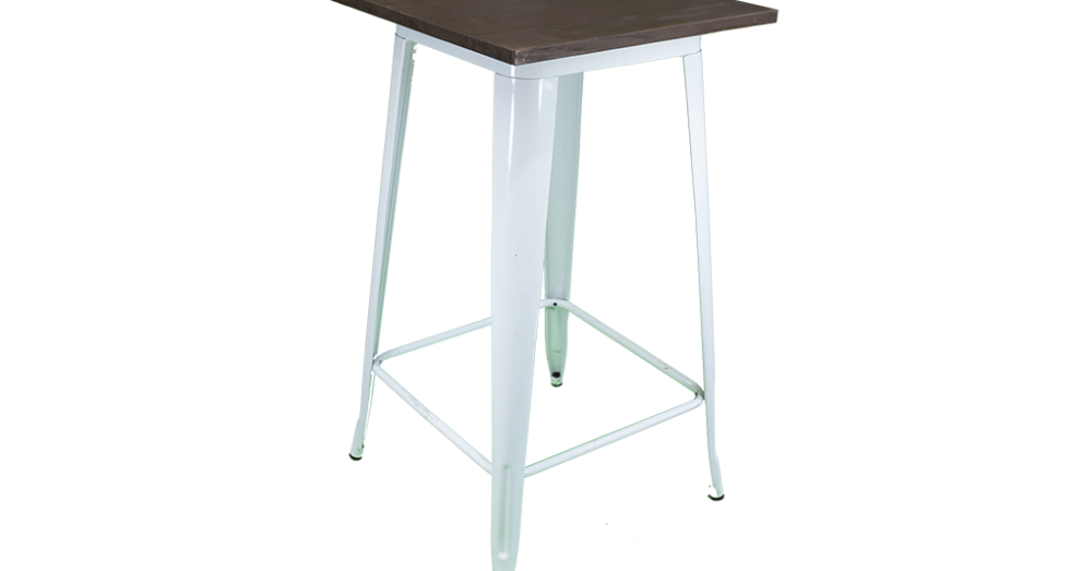 White Tolix Bar Table